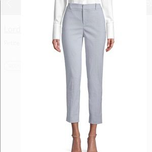 Lord&Taylor white blue stripped pants .